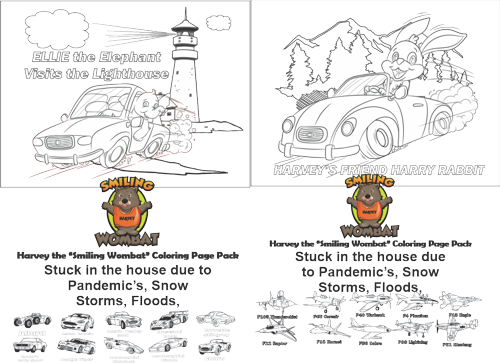 Harvey's Coloring Pages